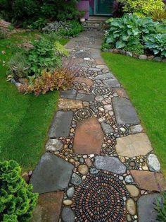 Stone & pebble walkway