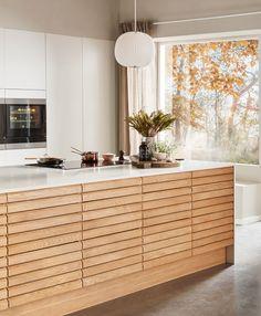 Nordic Spirit Natur Eg Nordic Kitchen, Scandinavian Kitchen, Kitchen Room Design, Home Decor Kitchen, Home Interior, Kitchen Interior, Bedroom Vintage, Home Cooler, Mid Century Modern Kitchen