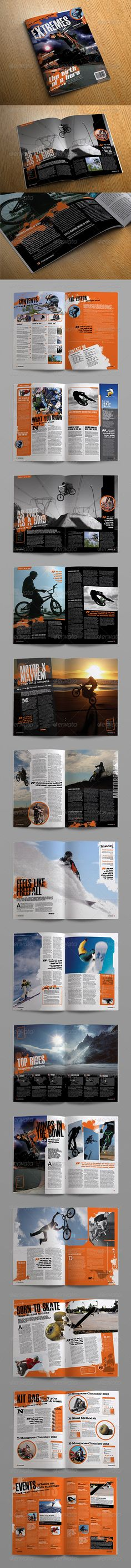 InDesign  eXtreme Magazine Template  • Only available here ➝…