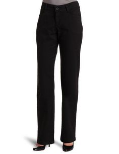 Riders Women Black Easy Care Tummy Control Straight Leg Pants NWT Plus Petite #RidersbyLee #CasualPants