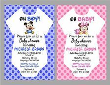 Mickey And Minnie Mouse Baby Shower Invitations Mickey Or Minnie