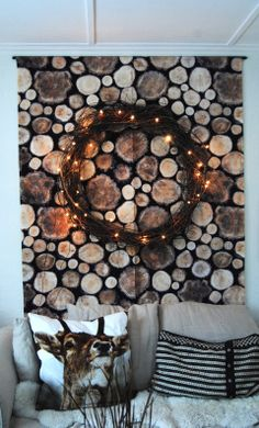 IKEA offers everything from living room furniture to mattresses and bedroom furniture so that you can design your life at home. Check out our furniture and home furnishings! Lighted Wreaths, Holiday Wreaths, Rustic Christmas, Christmas Diy, Ikea Fabric, Coffee Table Inspiration, Deer Pillow, Textiles, E Design