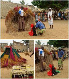 Benin, voodoo i wirujące Zangbeto Voodoo, Drinking, Dolls, Children, Baby Dolls, Young Children, Beverage, Boys, Drink