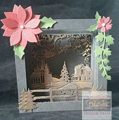 Created with Die'sire #festive Create-a-Card dies from #crafterscompanion…