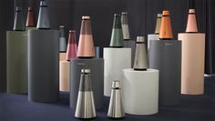 """Our vibrant """"forrest"""" of & showcasing all the potential colours of our new speaker systems Audio Design, Speaker Design, Ifa Berlin, Color Plan, Bang And Olufsen, Form Design, Wireless Speakers, Bottle Design, Industrial Design"""
