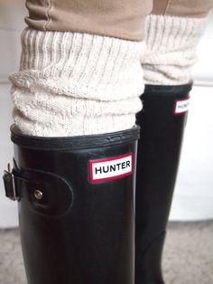 Hunters & Over the knee socks