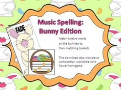 Treble Clef Spelling Activity with Easter Theme