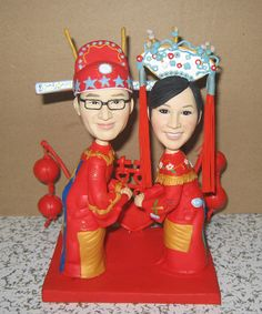 Traditional Chinese wedding cake topper