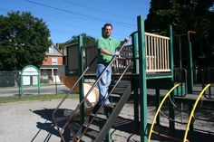 Kemal, our accountant, painting the playground. Life Savers, Playground, Park, City, Painting, Children Playground, Life Preserver, Painting Art, Parks