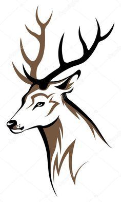 Baixar - Emblema tribal cabeça de veado — Ilustração de Stock #50928309
