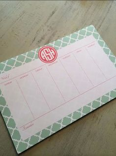 Personalized Weekly Desk Planner- 53 Pages- Design your Own- 11x17
