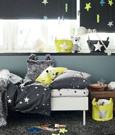 Love this idea for Talyn's room, he loves looking at the moon and stars at night!