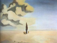 Figure and Drapery in a Landscape - Salvador Dali, c.1934