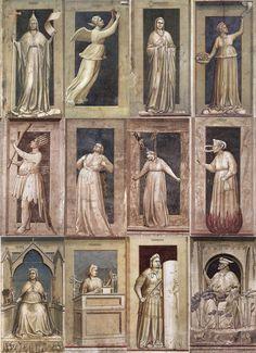 Giotto, Ensemble de Fresque trompe-l'oeil