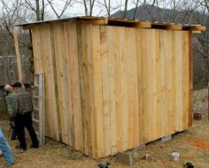 It's a Boy's Life: The Goat's Pallet Barn - would make a nice chicken coop.