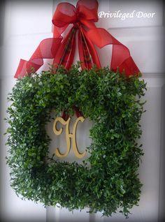 Christmas Wreath. Holiday Wreath. Christmas by PrivilegedDoor, $79.00