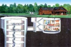 Cutaway view of the home above and below ground
