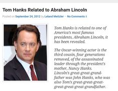 Famous Presidents, Tom Hanks, Abraham Lincoln, Toms, How To Remove, America, Usa