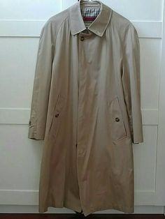 2ad4b4d7b2b4f Classic vintage khaki colored cotton raincoat overcoat size 36 S lined  Raincoat