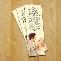 Save the Date Bookmarks - original idea for a couple that loves to read!