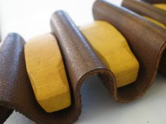 leather & wood necklace Wood Necklace, Leather, Accessories, Wooden Necklace, Tree Necklace, Ornament