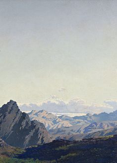 Antonio Muñoz Degrain, Landscape of the Sierra de las Agujas (detail), 1864