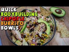 Quick BODYBUILDING Chipotle Burrito Bowls Recipe #iifym #burritobowls ...