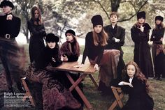 A spectacular group shot for Vogue US, 1993 by Steven Meisel.