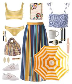 """""""Senza titolo #6944"""" by waikiki24 on Polyvore featuring moda, MDS Stripes, Solid & Striped, Vera Bradley, Royal Doulton, EAST, adidas, Michelle Campbell Jewelry, Kate Spade e Yves Saint Laurent"""