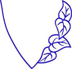 Neckline embroidery design
