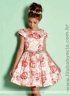 Um lindo vestido infanto juvenil para você que ama e Considera IMPORTANTE vestir sua Princesa com Look's Exclusivos; www.lilababyecia.com.br/alto-verao-2016-pg-38244  #AltoVerao216 #Verão2016 #diforini #Princesas