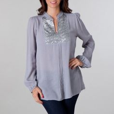 Love this sequin tunic