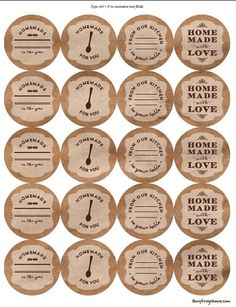 Brown Kraft Paper Canning Labels