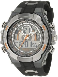 Men's Wrist Watches - Armitron Sport Mens 204589ORGY Watch with Black Band >>> Click on the image for additional details.