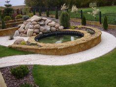 Garden-design.PROJEKTOWANIE OGRODÓW KIELCE. Woda w ogrodzie. Ogród przydomowy