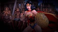 Gina Torres voicing Wonder Woman in a DC Universe Online cinematic. I would love to see Gina Torres play WW in a live-action version!