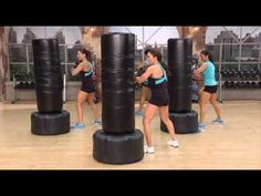 This is a video clip from Cathe Friedrich's Rockout Knockout Bonus Heavy bag workout. Order or learn more about Cathe's Rockout Knockout kickbox workout at: . Boxing Workout With Bag, Punching Bag Workout, Home Boxing Workout, Heavy Bag Workout, At Home Workouts, Body Workouts, Boxing Boxing, Studio Workouts, Workout Exercises