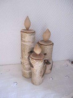 Kerzen aus Birkenholz. Dreier Set: 18 cm, 21 cm und 26 cm Andere Größen und Holzarten sind auch möglich!, Aachen - kostenlose Kleinanzeigen - kalaydo.de