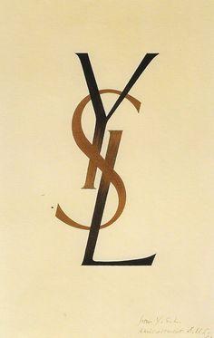 1961, december. Famous graphic artist Adolphe Mouron Cassandre creates the YSL logo.