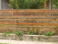 Alternating Horizontal Slat Fence | Escobar Construction