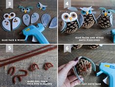 O3 Pine Cones, Wings, How To Make, Crafts, Noel, Manualidades, Feathers, Craft
