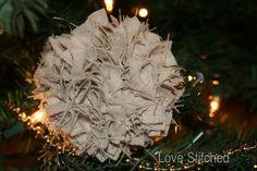 Burlap tree ornament?? YES!!