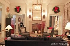 sitting room Atlanta Homes and Lifestyles Home for the Holidays