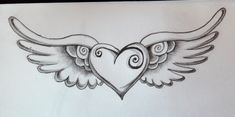 heart tattoo by zioman on DeviantArt Wing Tattoo – Fashion Tattoos Trendy Tattoos, Cute Tattoos, Body Art Tattoos, New Tattoos, Tribal Tattoos, Sleeve Tattoos, Tattoos For Women, Tatoos, Tattoos Skull