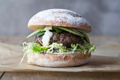 Venison burgers recipe, Bite – Venison makes a lean burger with a special touch - Eat Well (formerly Bite) Slider Recipes, Burger Recipes, Low Carb Recipes, Healthy Recipes, How To Make Mayonnaise, Homemade Mayonnaise, Venison Burgers, Burger Buns, Sliders Burger