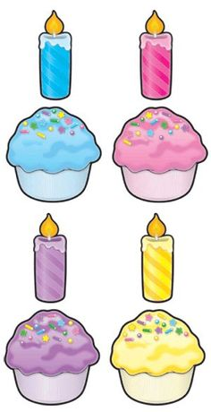 Cut-Out Buddies Cupcakes – Kerzen – Typical Miracle