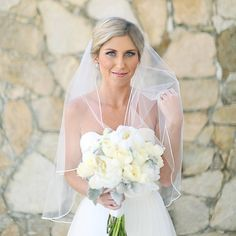 """leave it to @elizakennard + our stunning bride, Lauren, to have us wishing for warmer weather! this gal said """"I DO"""" on the beaches of Cabo last month in her custom @oliazavozina gown"""
