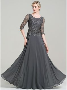 A-Line/Princess Scoop Neck Floor-Length Beading Sequins Zipper Up Sleeves Sleeves No Steel Grey General Plus Chiffon US 2 / UK 6 / EU 32 Mother of the Bride Dress Mother Of Groom Dresses, Bride Groom Dress, Mothers Dresses, Mother Of The Bride, Mob Dresses, Fashion Dresses, Bride Dresses, Wrap Dresses, Dressy Dresses