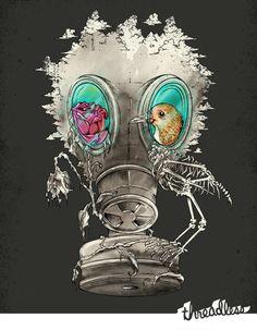 Gas mask tattoo