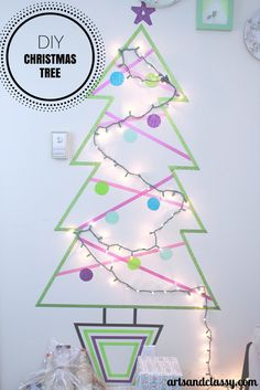 diy christmas tree project on a budget, christmas decorations, crafts, seasonal holiday decor Christmas On A Budget, Diy Christmas Tree, Christmas Lights, Christmas Holidays, Christmas Decorations, Christmas Ideas, Christmas Things, Christmas 2017, Christmas Projects